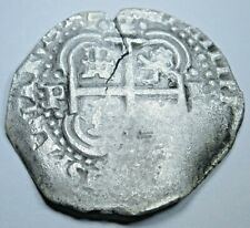1654 Spanish Silver 2 Reales Shipwreck Piece of 8 Real Pirate Treasure Cob Coin