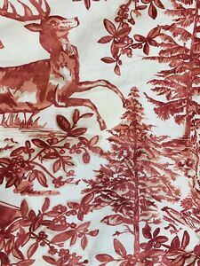 """Lot of 3 Pottery Barn Red & White Toile Pillow Shams 100% Cotton 30"""" X 30"""""""
