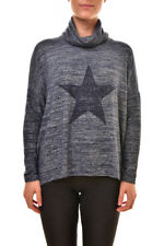 Sundry Damen Tender Star Rollkragenpullover Pullover Blau L UVP $ 176 BCF810