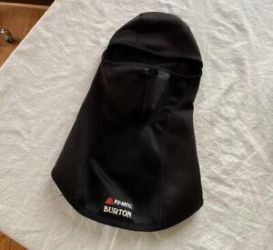 POLARTEC BURTON BLACK SKI FACE MASK BLACK FLEECE LINED PERFECT CLEAN EUC 🖤💗💓