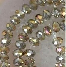 Cheap wholesale gray color colored crystal beads 6x8mm 72PC. Free Shipping 0.2
