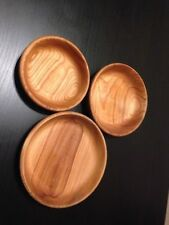 Wooden Bowls 3 each set - perfect for snacks nuts chips - cherry wood