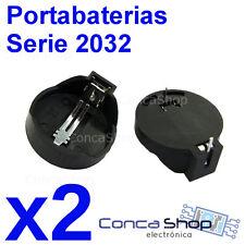PORTAPILAS BOTON CR2032 HORIZONTAL PARA SOLDAR PCB X 2 battery cell socket