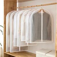 5x Clothes Hanging Garment Dress Coat Dust Cover Storage Bag Wardrobe Organizer
