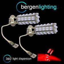 2x H3 rosso 60 LED ant. LAMPADINE PER FARI FENDINEBBIA SUPPLEMENTARI