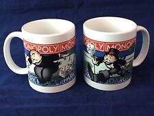 Monopoly Park Place Boardwalk Mugs Set of 2 Pair in Box Ceramic 1999   GIFT!