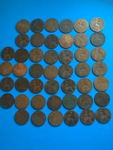 British Large One Penny Lot of 46 (1861-1926) *K014