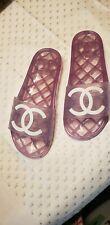 Chanel Beach Jelly Slides Sandals 37
