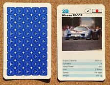 TOP TRUMPS Single Card Waddingtons Racing Cars - NISSAN R90CP Japanese Car
