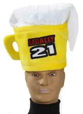 Legally 21 Drinking Happy 21st Birthday Party Favor Costume Gift Beer Mug Hat