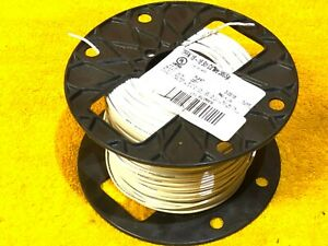 500' ROLL #18 AWG WHITE MTW TFFN 600 VOLT STRANDED COPPER HOOK UP WIRE 5LWY8