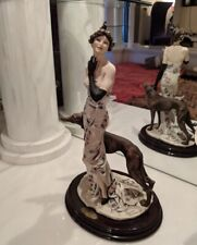 "Giuseppe Armani Figurine ""Charme"" #1317E Lady Greyhound Dog 1998 Italy 19� Rare"