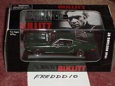 "ROAD SIGNATURE 1968 ""BULLITT"" FORD MUSTANG GT 1/43 GREEN w DISPLAY CASE"