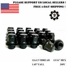 20PC OEM FACTORY BLACK MAG LUG NUT FITS TOYOTA LEXUS SCION 12X1.5 MAG SEAT WHEEL
