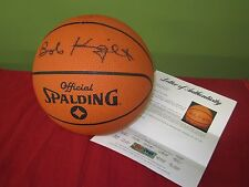 WOW!! BOB KNIGHT SIGNED NCAA BASKETBALL WITH PSA/DNA LETTER OF AUTHENTICITY
