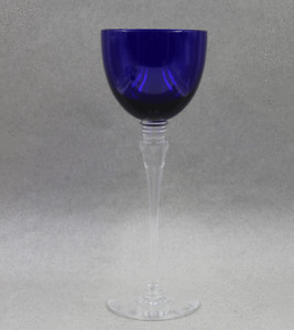"St Louis Crystal Grand Lieu Cobalt Blue Hock Wine 9 1/8"" Sold Individually"
