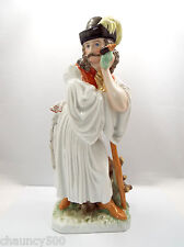 "Vintage Herend Hungary Mournful Shepherd Peasant Figurine #5427, 11.5"""