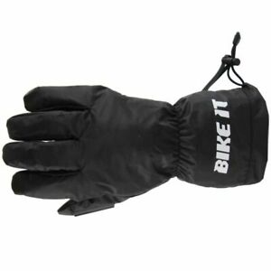 Bike It 5 Dita Pioggia Over-Gloves Per Sopra Guanti da Moto Impermeabile