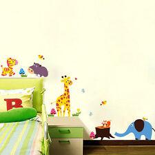 Wandtatto Wandsticker Wandaufkleber Tiere Kinderzimmer  Elefant Giraffe Zebra