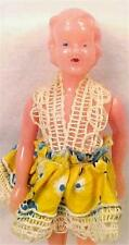 Vintage Dollhouse Doll Hard Plastic Mother Woman Lady 1950s Retro