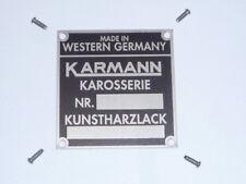 Porsche 914 Karmann Body Color Plate Badge VW Ghia Restoration Part