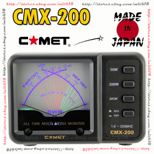 Japan COMET CMX-200 CROSS NEEDLE SWR Power Meter 1.8-200MHz  HAM HF VHF CB Radio