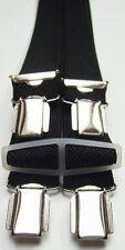 schwarzer Hosenträger,Betttuchspanner,110cm lang,25mm breit,4er Clip