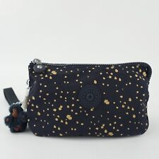KIPLING CREATIVITY XL Pouch Clutch Wristlet Golden Night Blue