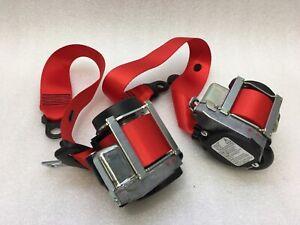 Porsche CAYMAN GT4 GUARDS RED 98180303303 SEATBELT SET GTS PAIR 981