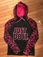 NWT Nike All-Time Haze Graphic Women Training Hoodie Black/Pink 715599 $60 (25Z)
