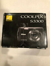 New! Nikon COOLPIX S3300 16.0MP Digital Camera - Black