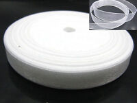 "50 Yards 3/8"" (10mm) White Wedding Crafts Sheer Organza Ribbon"