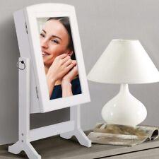 Specchiera Porta Gioie Gioielli Specchio Armadietto Contenitore Con Anta Bianco