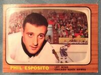 1966-67 Topps #63 Phil Esposito ~2nd Year Card~ Excellent Condition**NO CREASES*