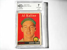 Al Kaline GRADED CARD!! Beckett BCCG 7!! 1958 Topps #70A Detroit Tigers HOFer!