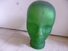 Glaskopf in grün 70 iger Jahre für Kopfhörer u.s.w. 28 cm