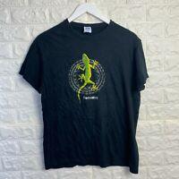 Vintage JHK T Shirt Mens Small Black Fuerteventura Graphic