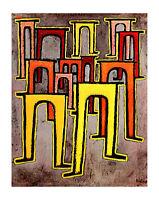 Poster Gießkannen, E. Katze, E. roter Stuhl Paul Klee Gartenscene