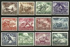 Germany (Third Reich) 1943 MNH - Armed Forces and Heroes' Day - Mi 831-842