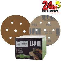 """U-Pol Maximum Abrasive Latex Paper P80 6"""" Sanding discs - x100 In Box Beige"""