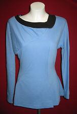 Classic Mini-robe bleu-star trek-coton replica-xl 60er Loock