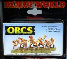 Demonworld Orcs Throigar Bronze Giants (8) MINT 15mm Lead minatures