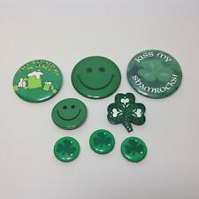 Lot of Vintage Pinbacks Pins St. Patrick's Day Theme Shamrocks