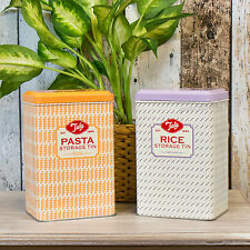Tala Originals Retro Kitchen Storage Jars Canisters Tins with Lids Vintage Food