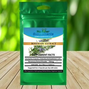 NoFillerSupplements Rosemary Extract Vegetable Capsules Rich in Rosmarinic acid