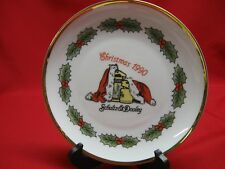 UTICA CLUB SCHULTZ AND DOOLEY 1990 FIRST EDITION CHRISTMAS PLATE - GERMANY