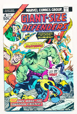 Marvel Giant Size Defenders 1974 #4 (Vf/Nm) Great Color Free Shipping