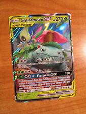 NM Pokemon CELEBI & VENUSAUR GX Card TEAM UP Set 1/181 Sun Moon Ultra Rare Tag