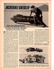 1966 KREIDLER MOTORCYCLE @ BONNEVILLE ~ ORIGINAL ARTICLE / AD