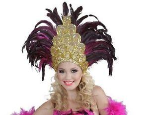 Salvador Feather Cabaret Mardi Gras Showgirl Burlesque Headdress Fancy Dress
